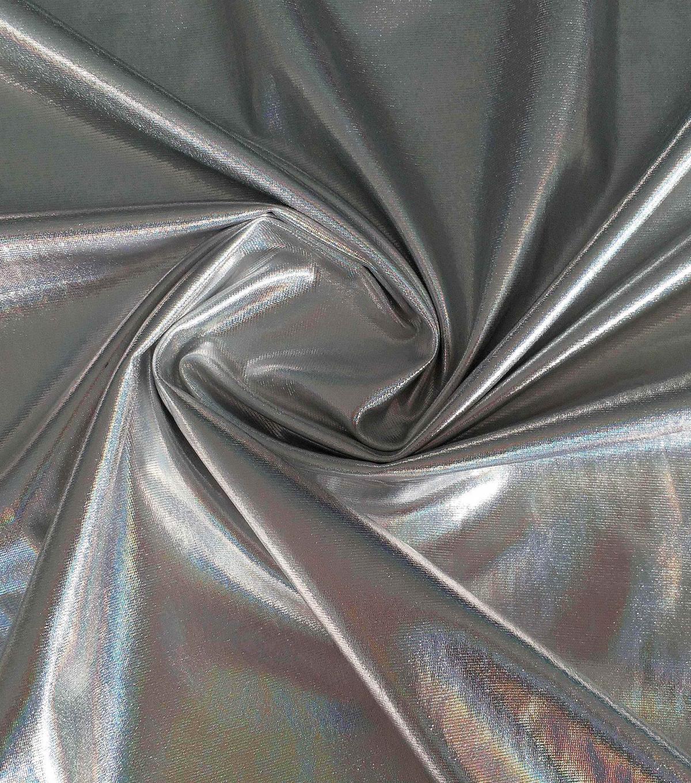 Halloween Metallic Polyester Spandex Fabric 59 Silver Joann