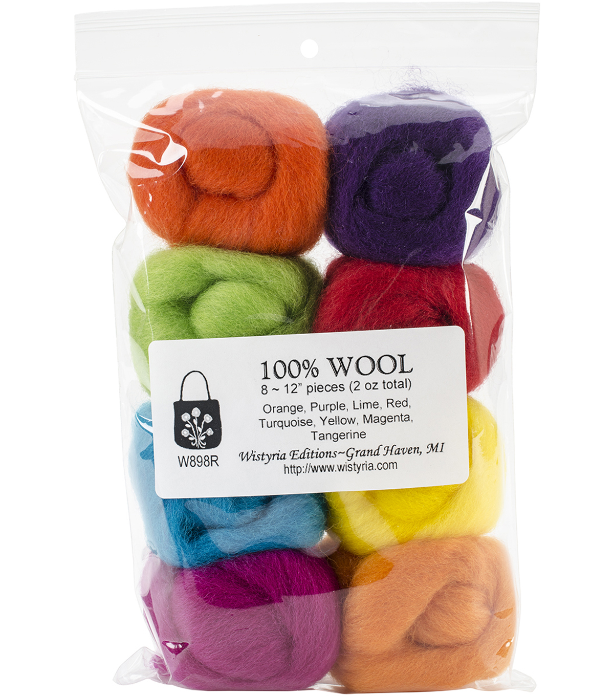 Wistyria Editions Ultra Fine Wool Roving, Fiesta
