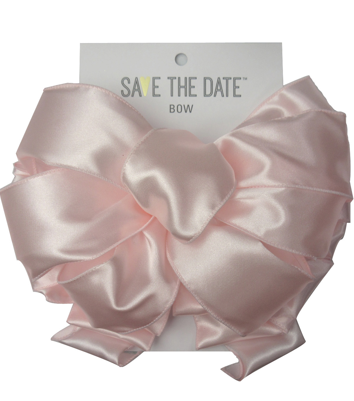 Save the Date 2.5\u0022 Bow-Blush Satin