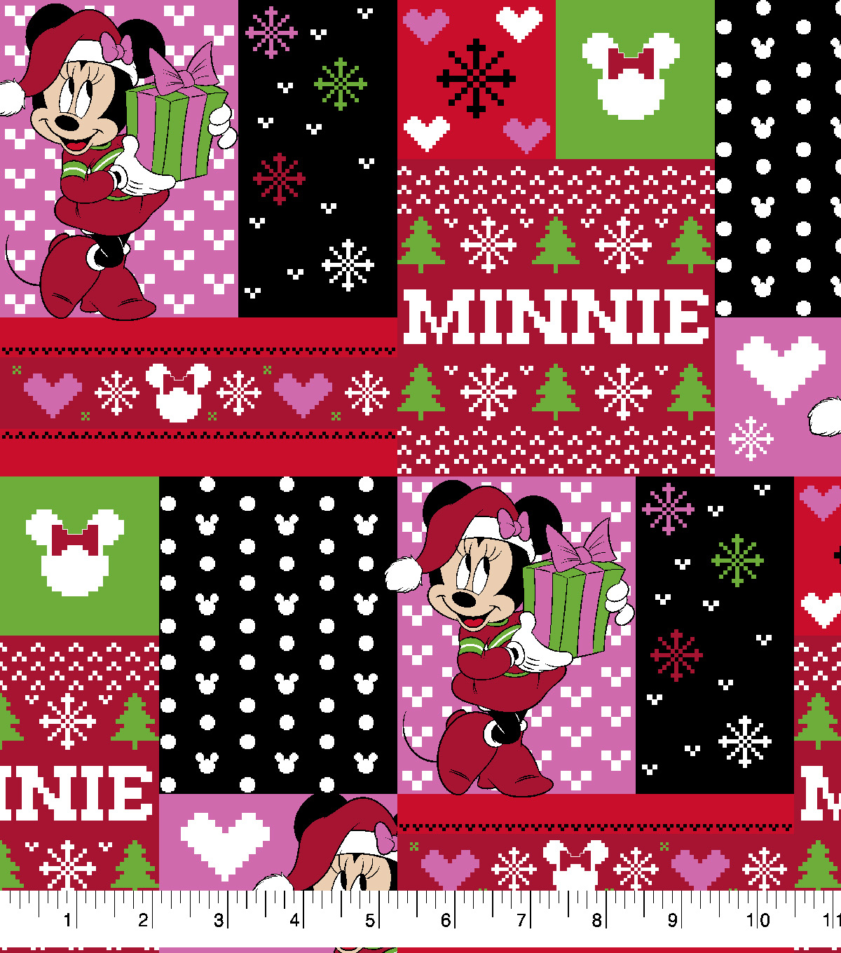 Disney Minnie Mouse Cotton Fabric-Ugly Sweater