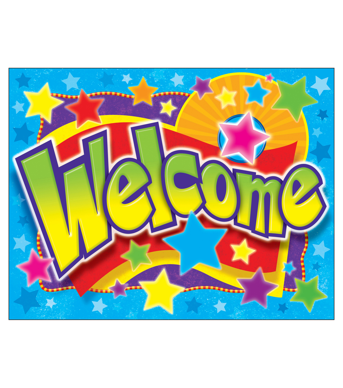 Welcome Stars Learning Chart 17\u0022x22\u0022 6pk