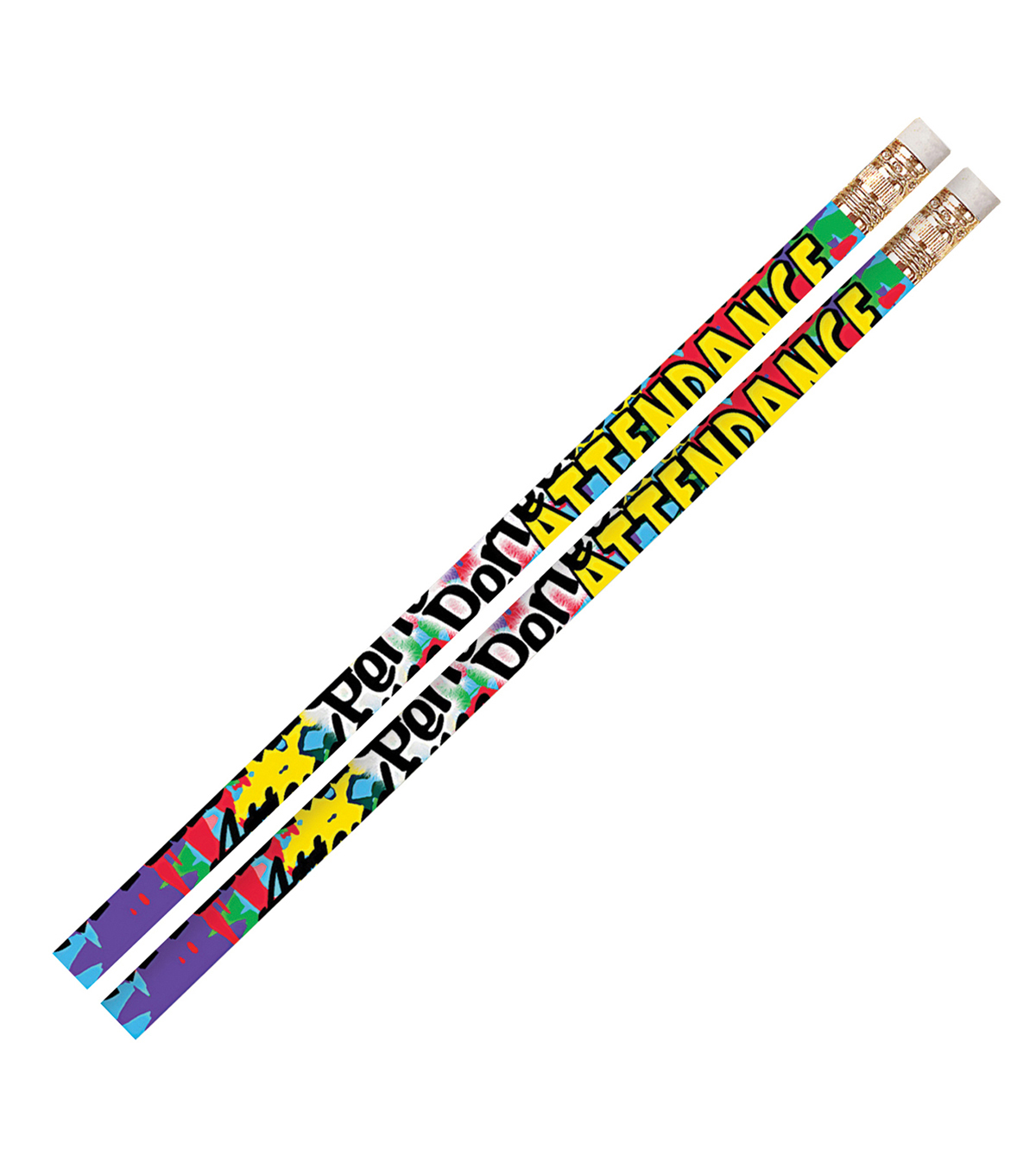 Musgrave Pencil Company 144 pk Pencils with Erasers-Perfect Attendance