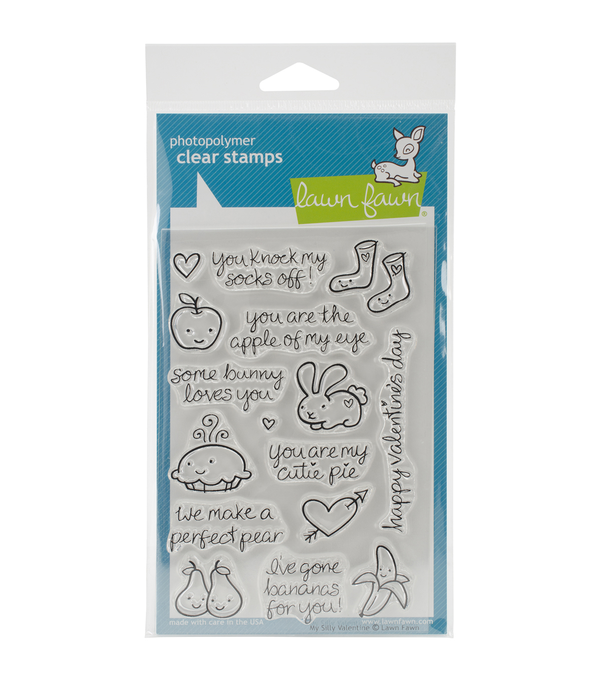 Lawn Fawn Clear Stamps 4\u0022X6\u0022-My Silly Valentine