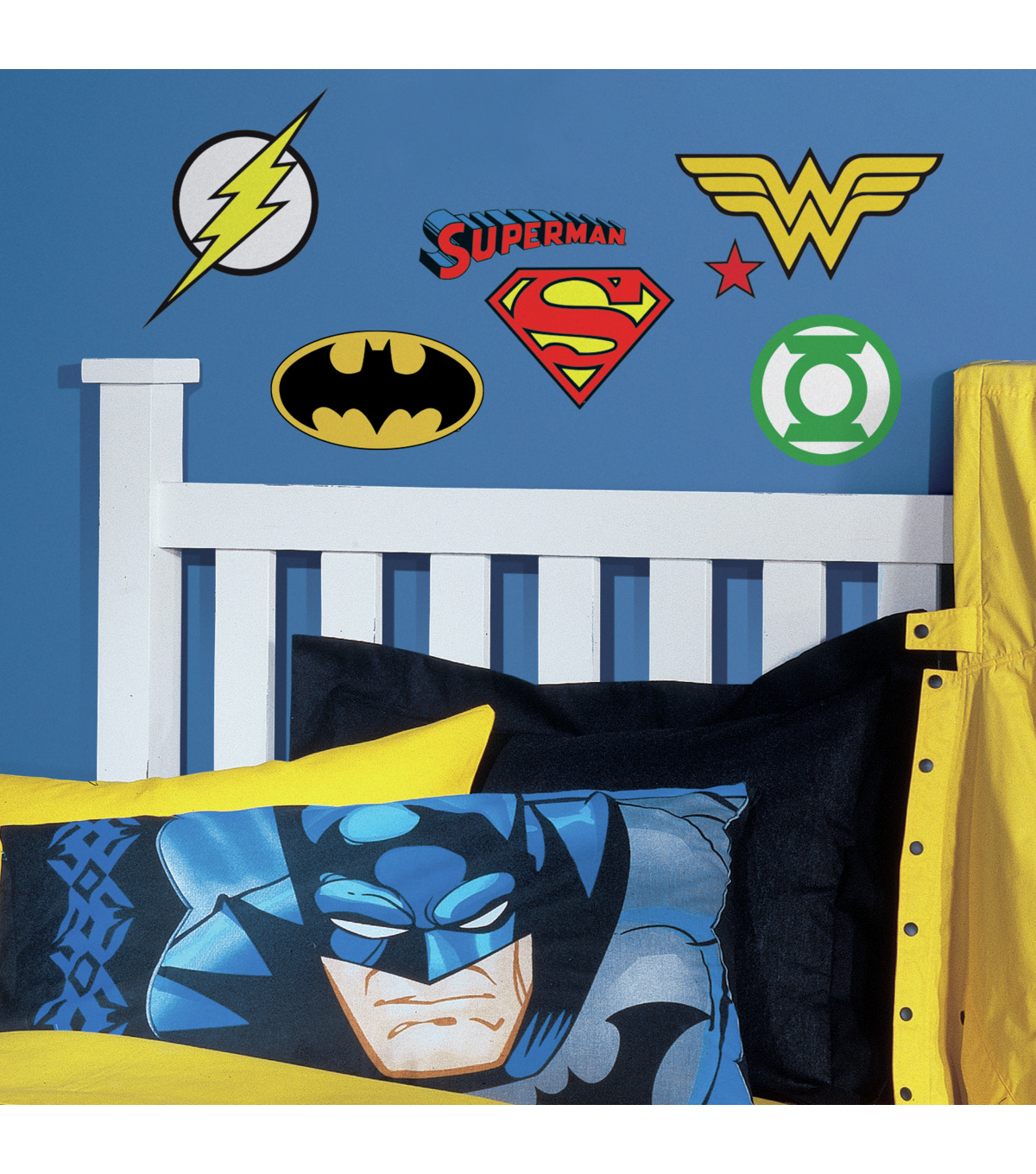 York Wallcoverings Wall Decals-DC Superheros Logos