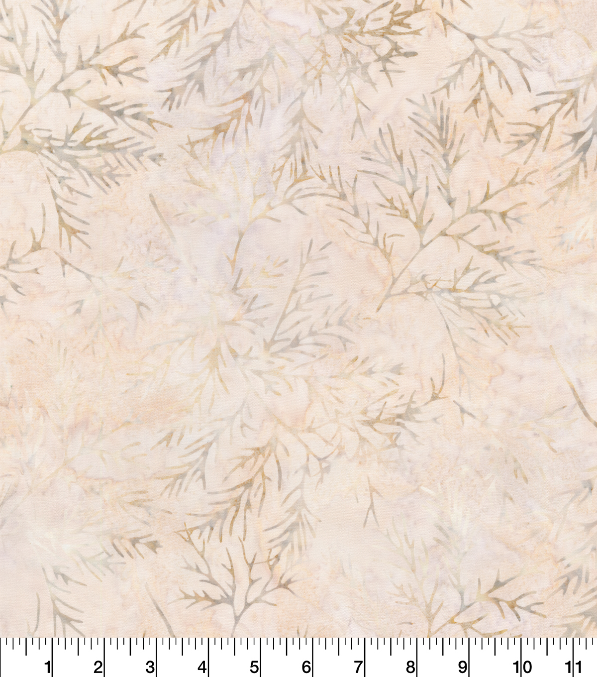 Indonesian Batik Cotton Fabric-Sketched Branches Cream