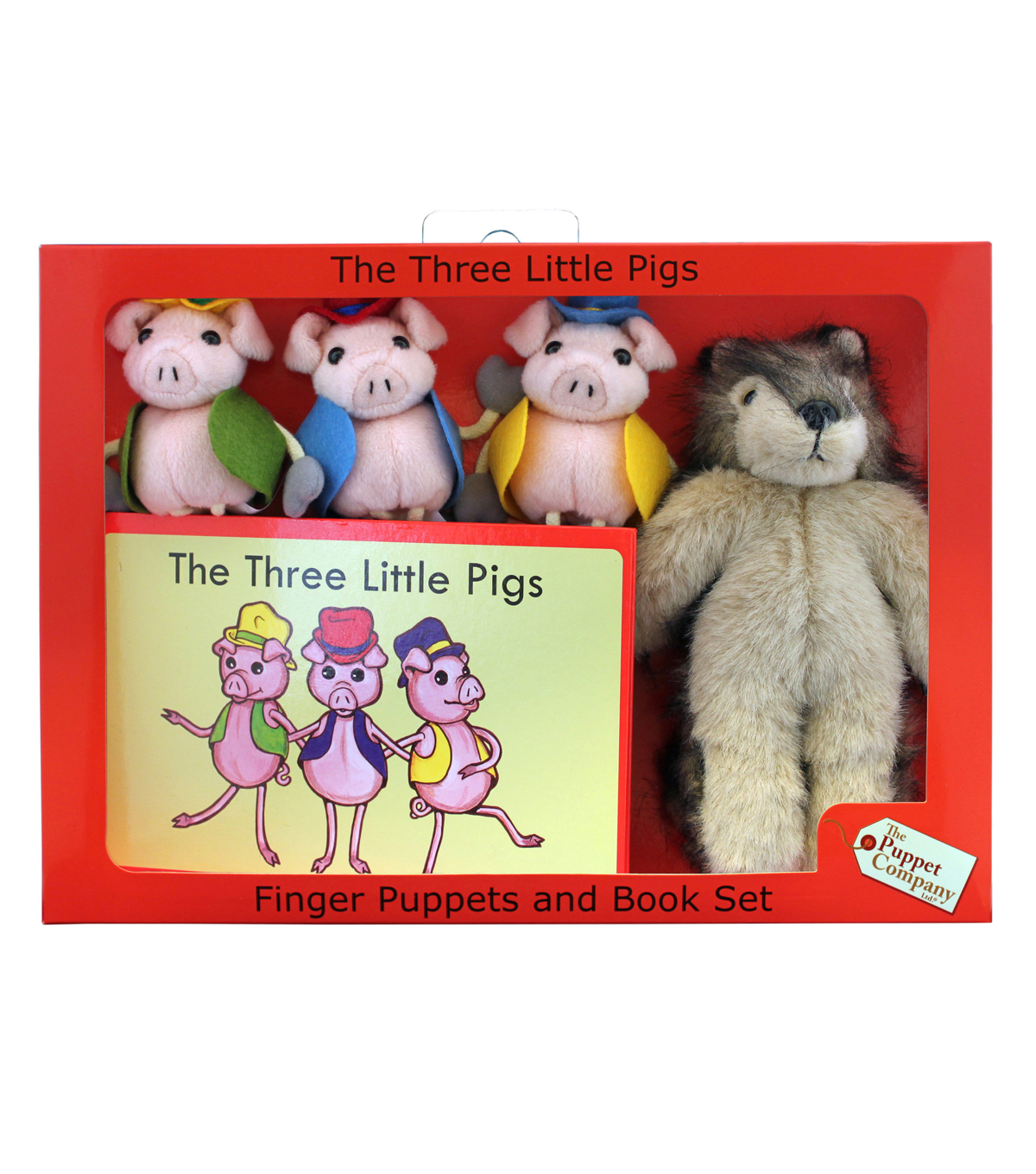 The Three Little Pigs Finger Puppets and Book Set