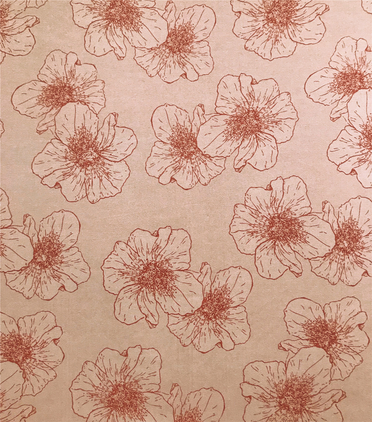 Knit Prints Double Brushed Poly Fabric-Pink Tonal Flowers