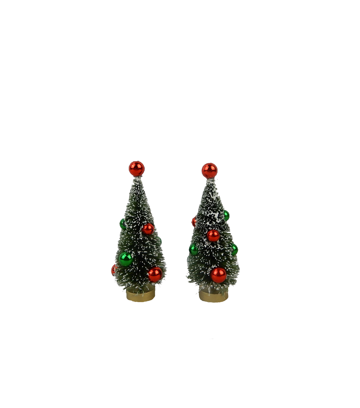 Maker\u0027s Holiday Christmas 2 pk Trees with Ornaments-Red & Green