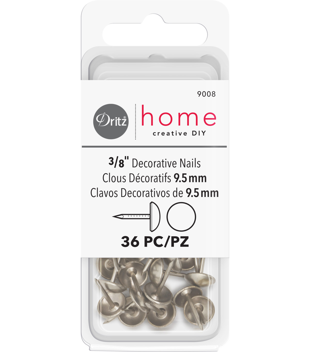 Decor Upholstery Tacks 3/8\'\' 36/Pkg-Nickel | JOANN