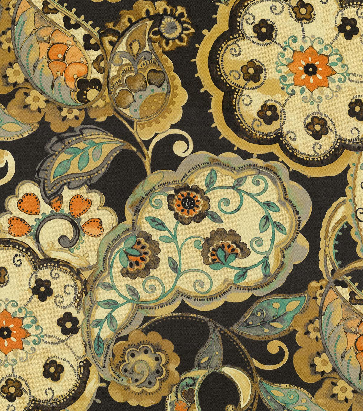 P/K Lifestyles Upholstery Fabric-Artist Colony Night