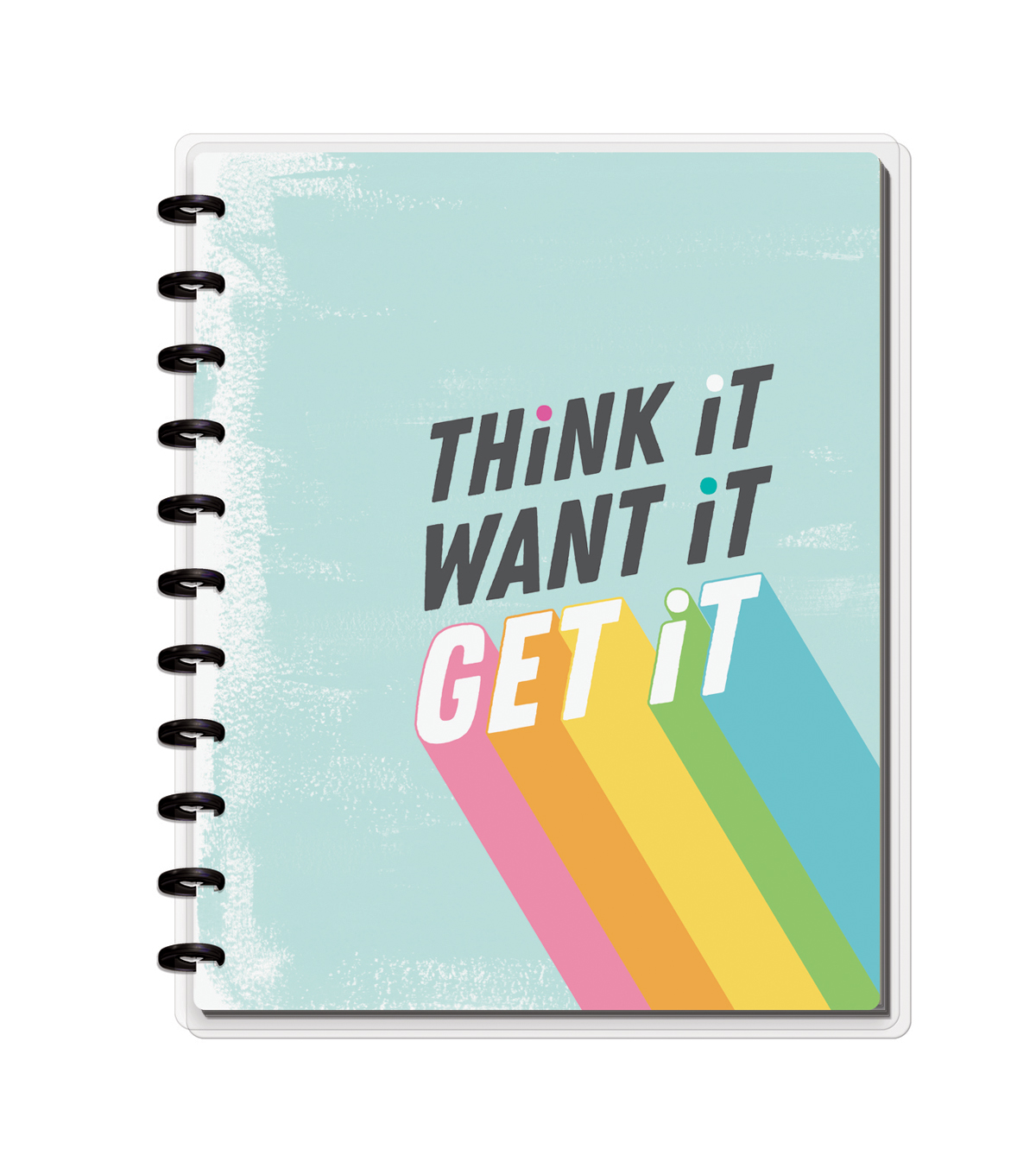 The Happy Planner Happy Notes Big Notebook-Think it Want it Get It