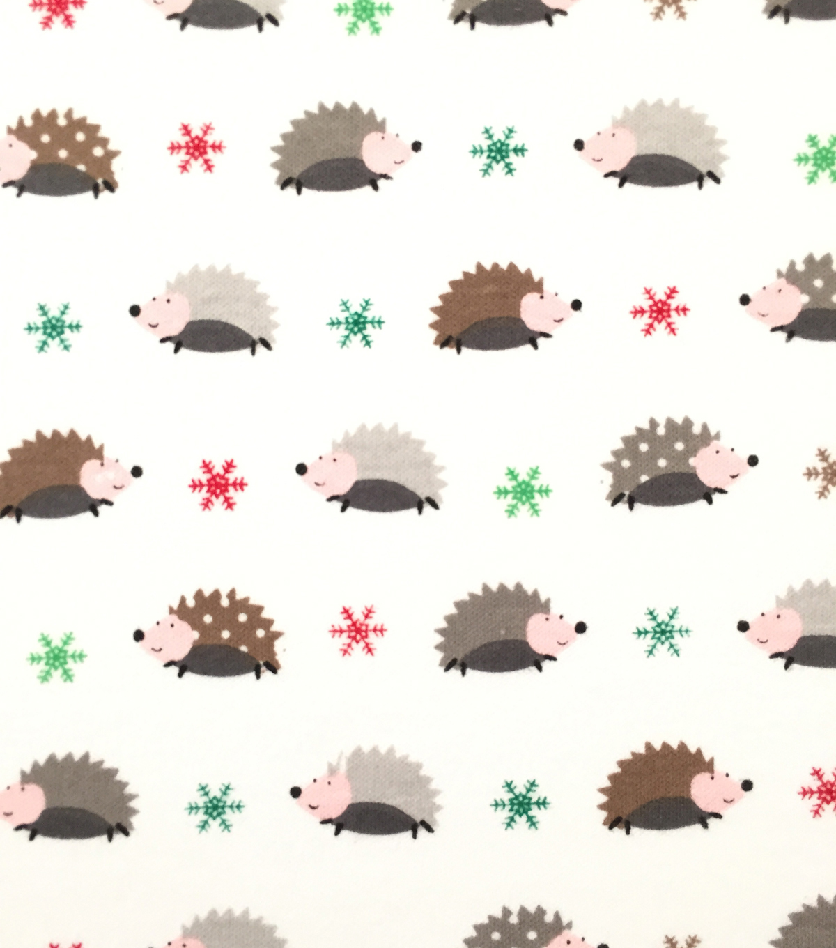 Doodles Christmas Interlock Cotton Fabric -Presents
