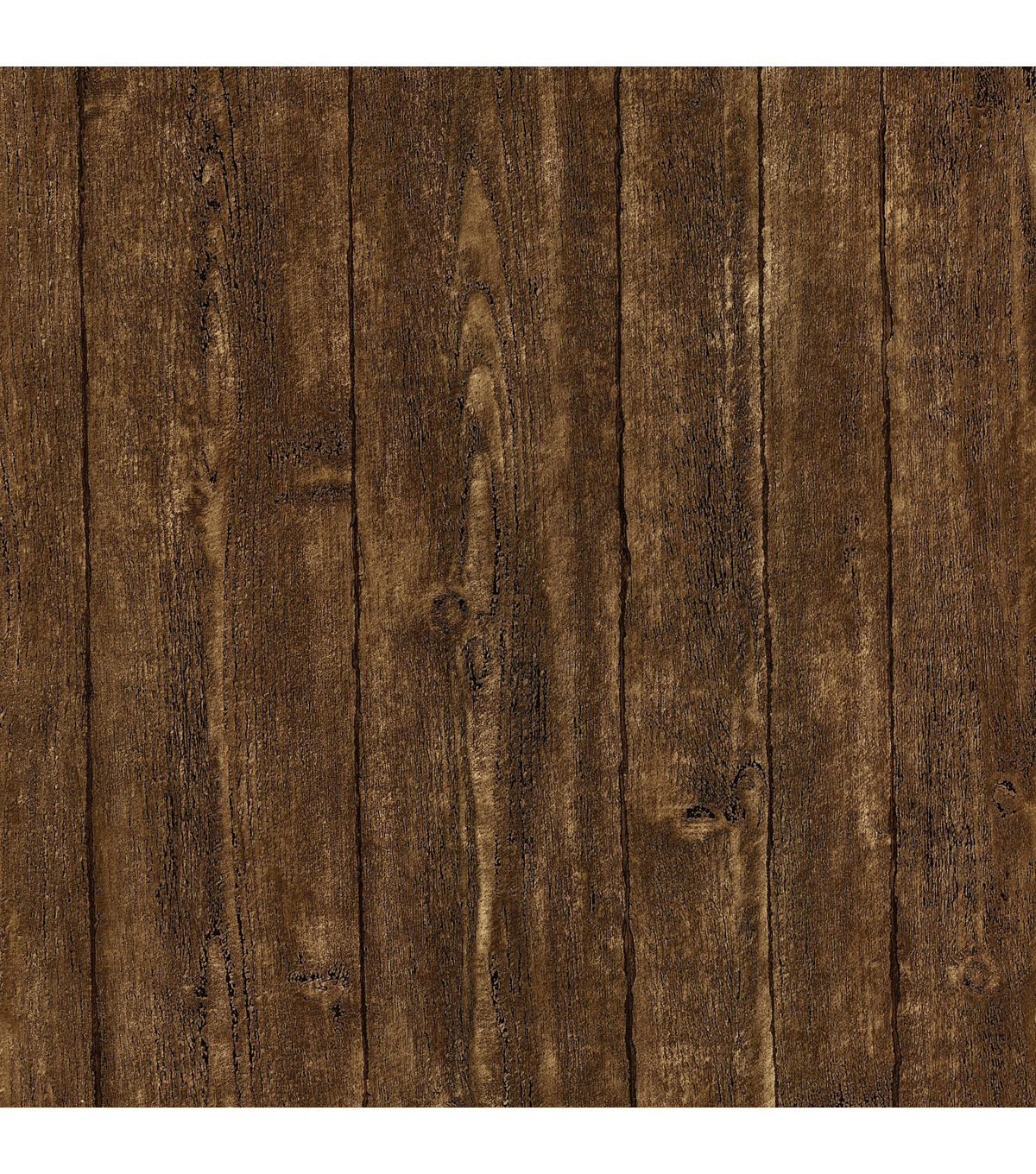 Ardennes Brown Wood Panel Wallpaper