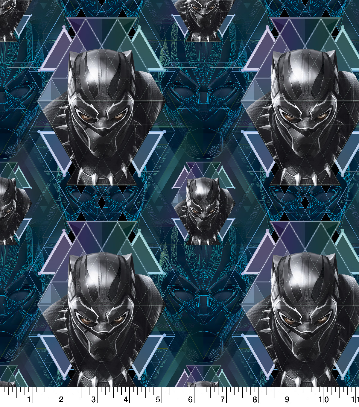 Black Panther Head Toss From Black Panther Movie Cotton Fabric