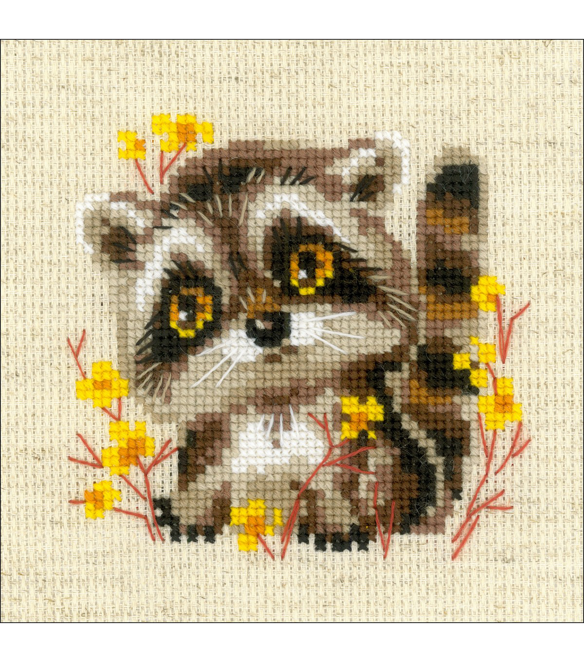 RIOLIS Galina Skabeeva Counted Cross Stitch Kit-Little Raccoon
