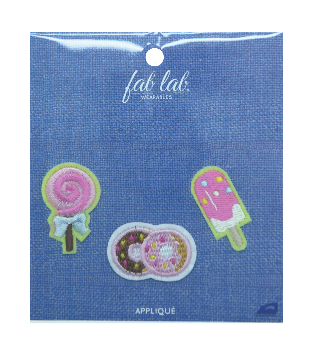 Fab Lab Wearables 3 pk Sweet Iron-on Appliques
