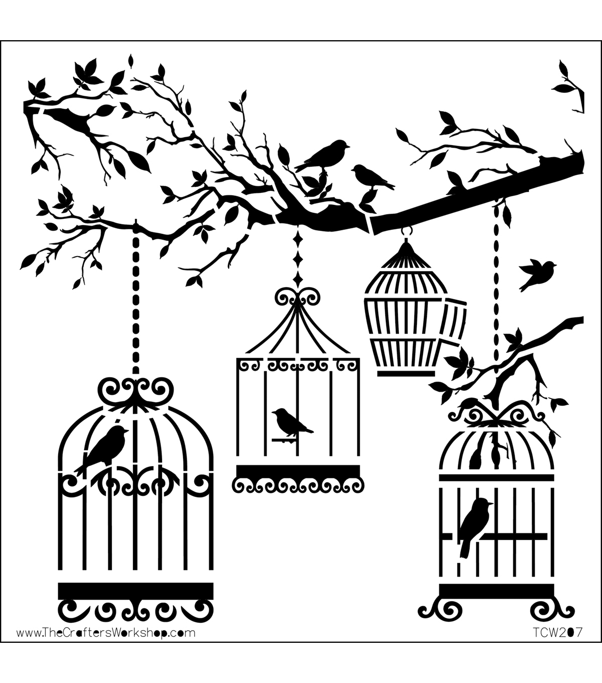 Crafter\u0027s Workshop Templates 6\u0022X6\u0022-Birds Of A Feather