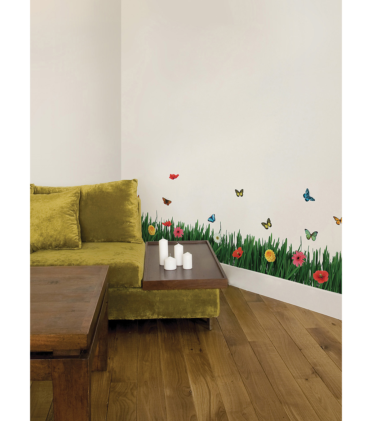 Home Decor Grass Wall Stickers, 23 Piece Set