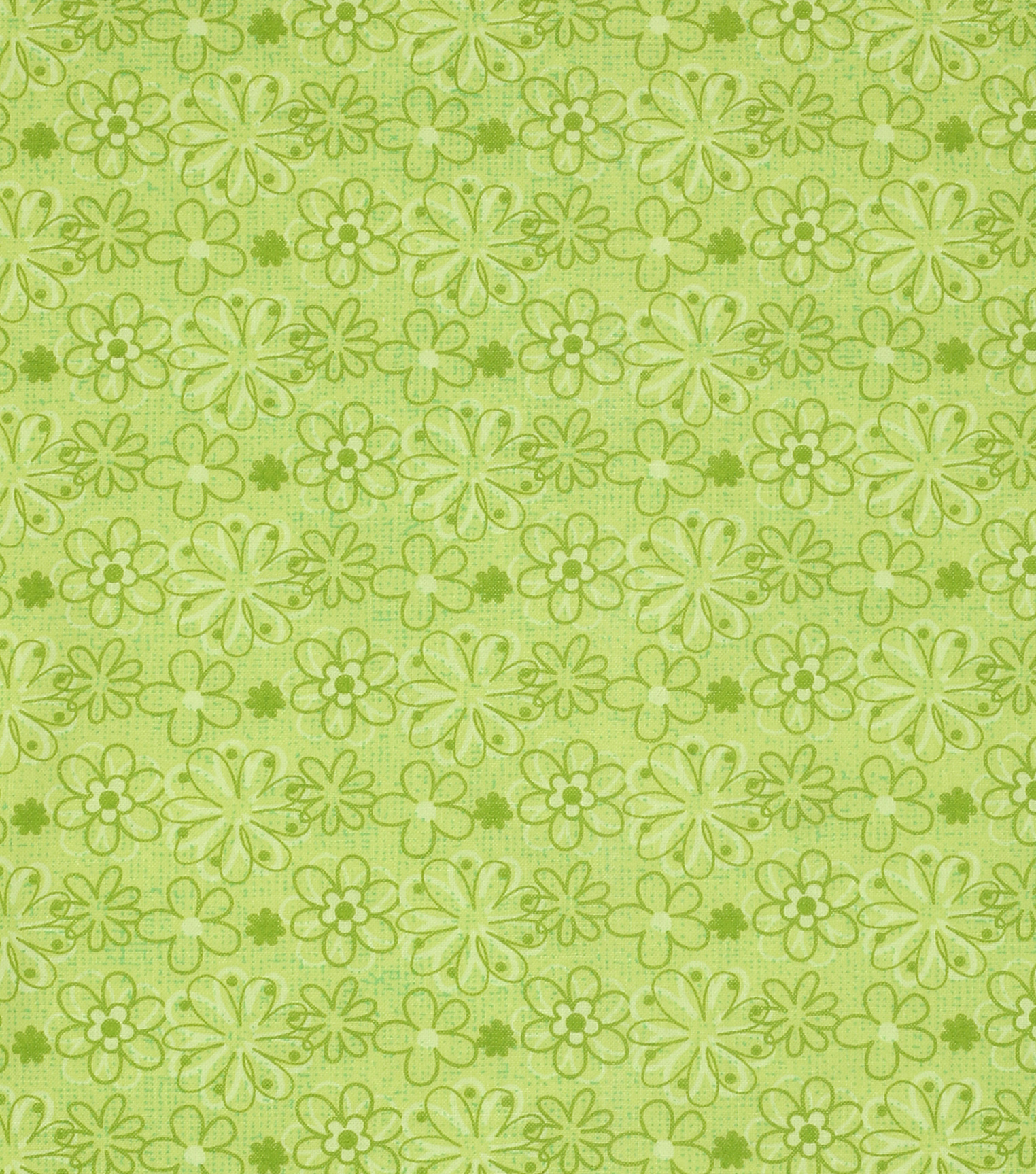 Keepsake Calico Cotton Fabric -Lime Floral
