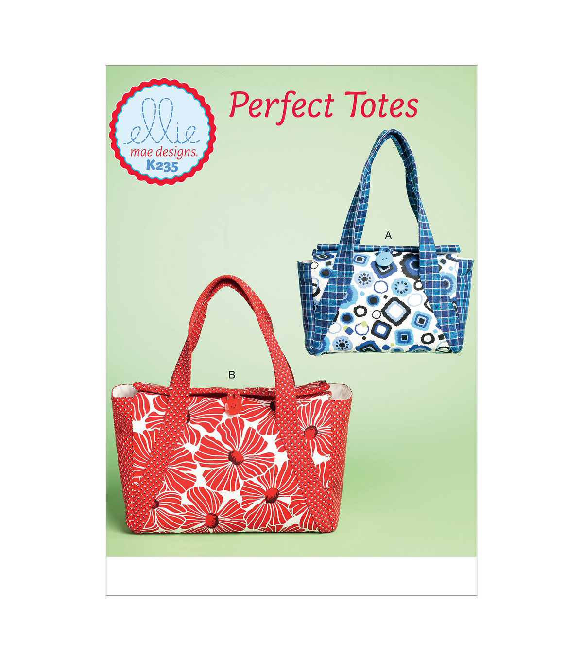 Kwik Sew Pattern K0235 Lined Bags with Two Inside Pockets