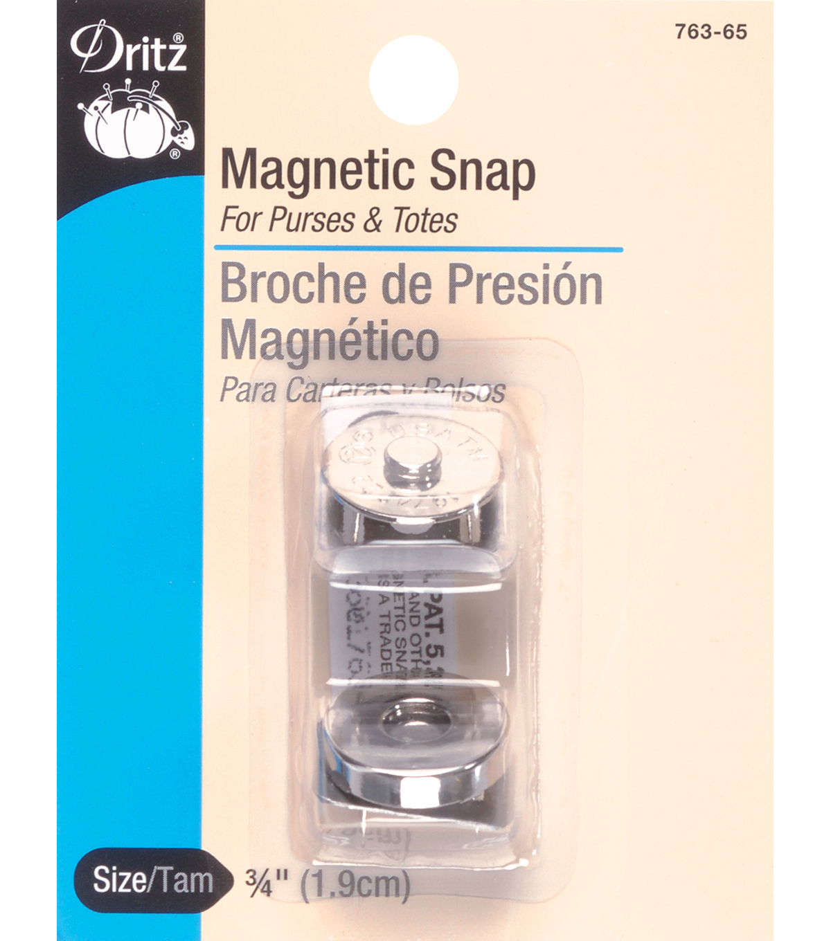 Dritz 0.75\u0027\u0027 Magnetic Snap-Gilt 1pc