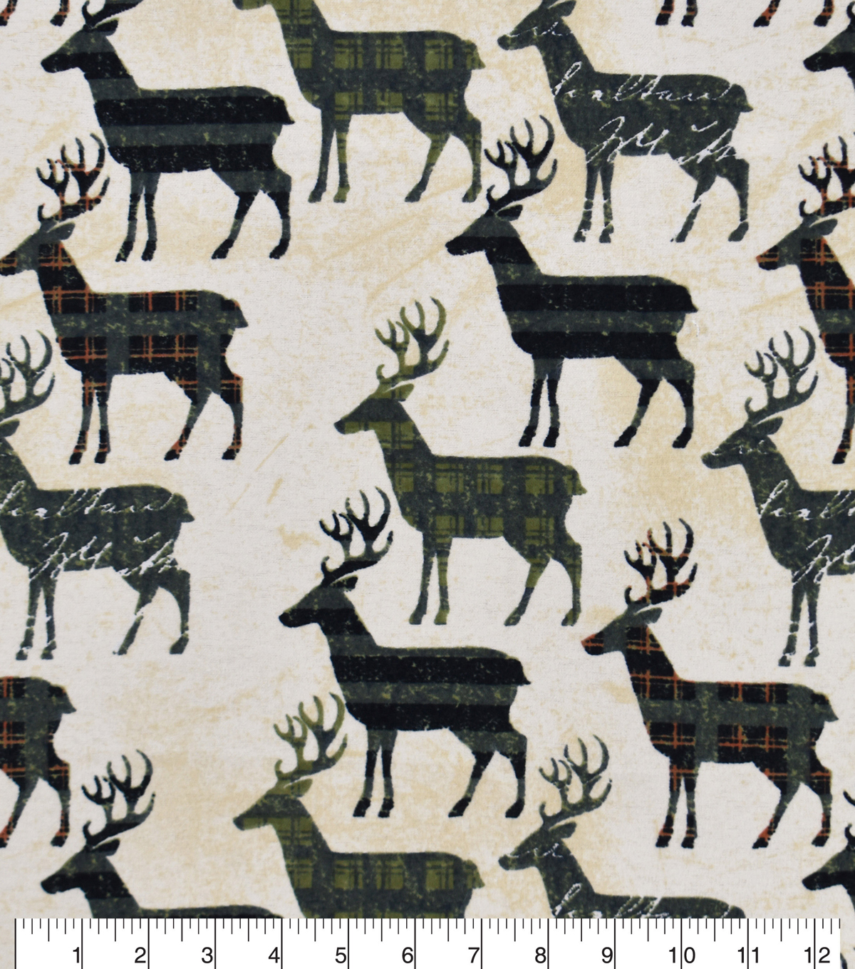 Snuggle Flannel Fabric -Autumn Patterned Animals