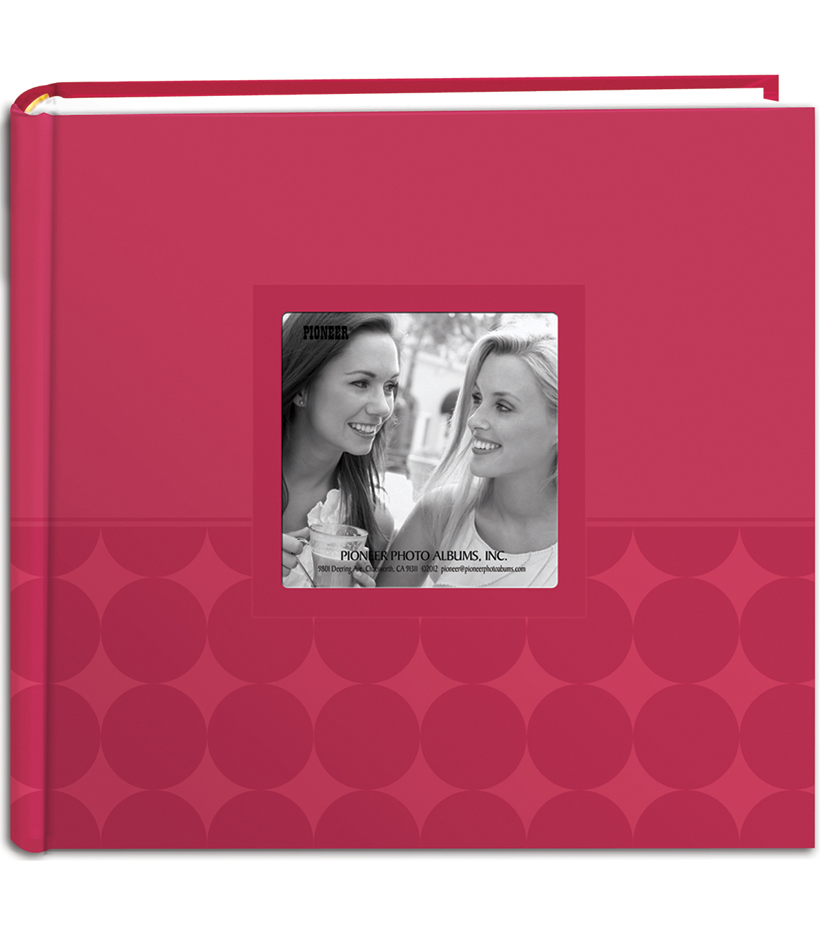 Embossed 2-Up Photo Album 4\u0022X6\u0022 200 Pockets, Pink Circles
