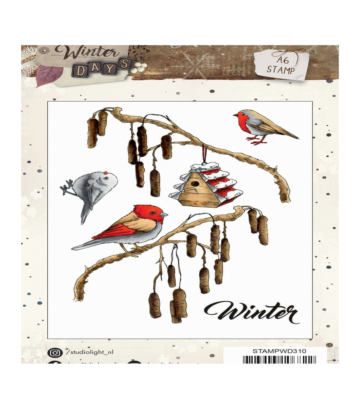 Studio Light Winter Days 5 pk A6 Stamps