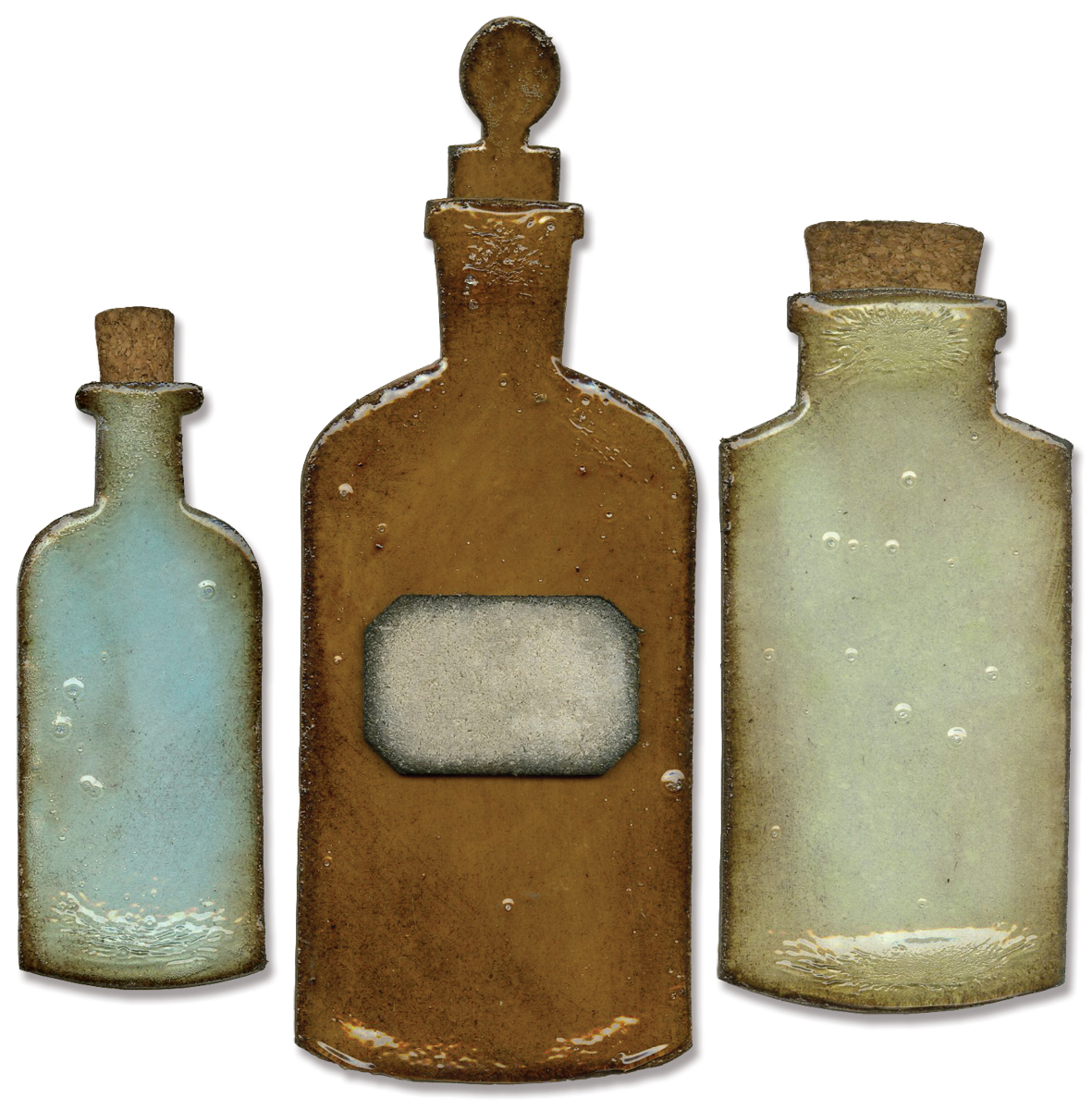 Sizzix Bigz Die Apothecary Bottles