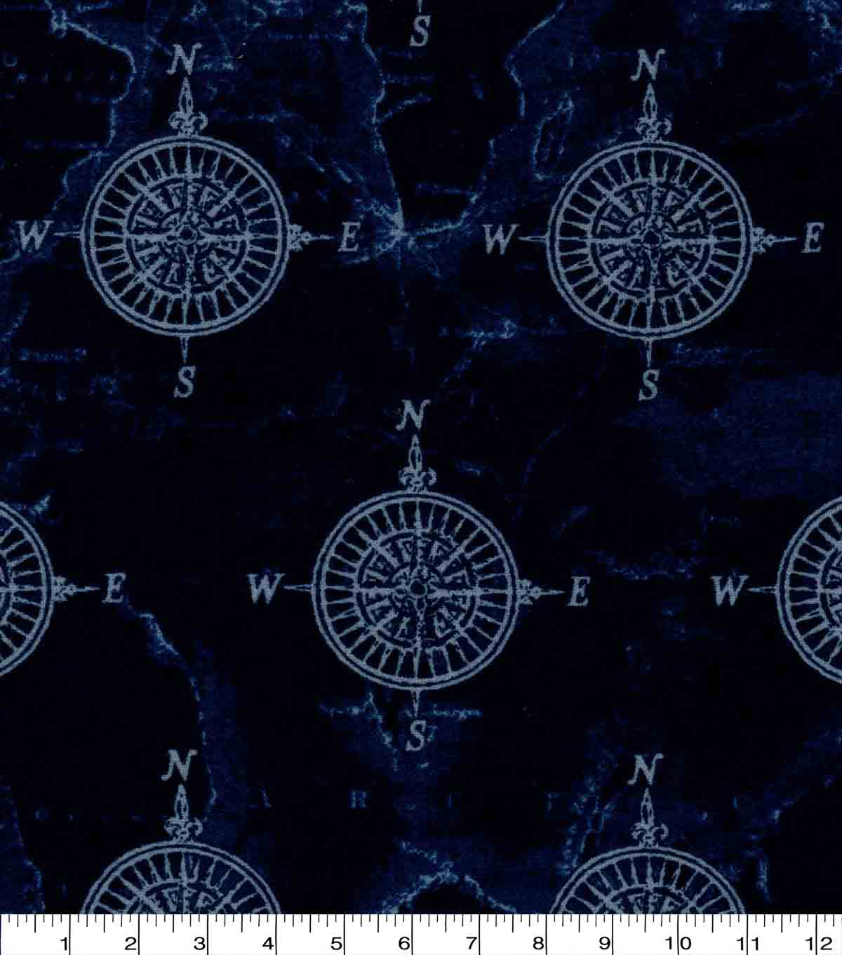 Luxe Flannel Fabric-Compass Navy