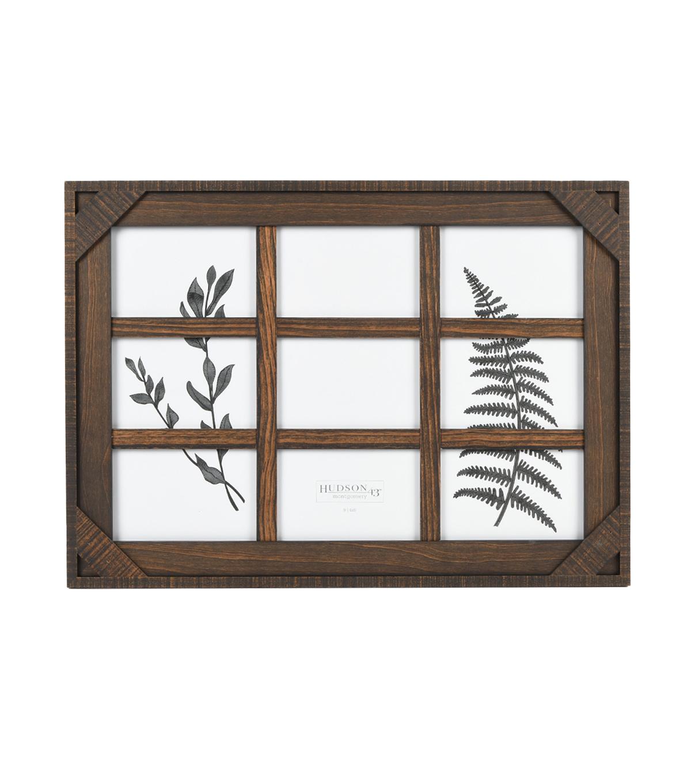 Wood 9 Image Wall Frame 4 U0027 U0027x6 Walnut