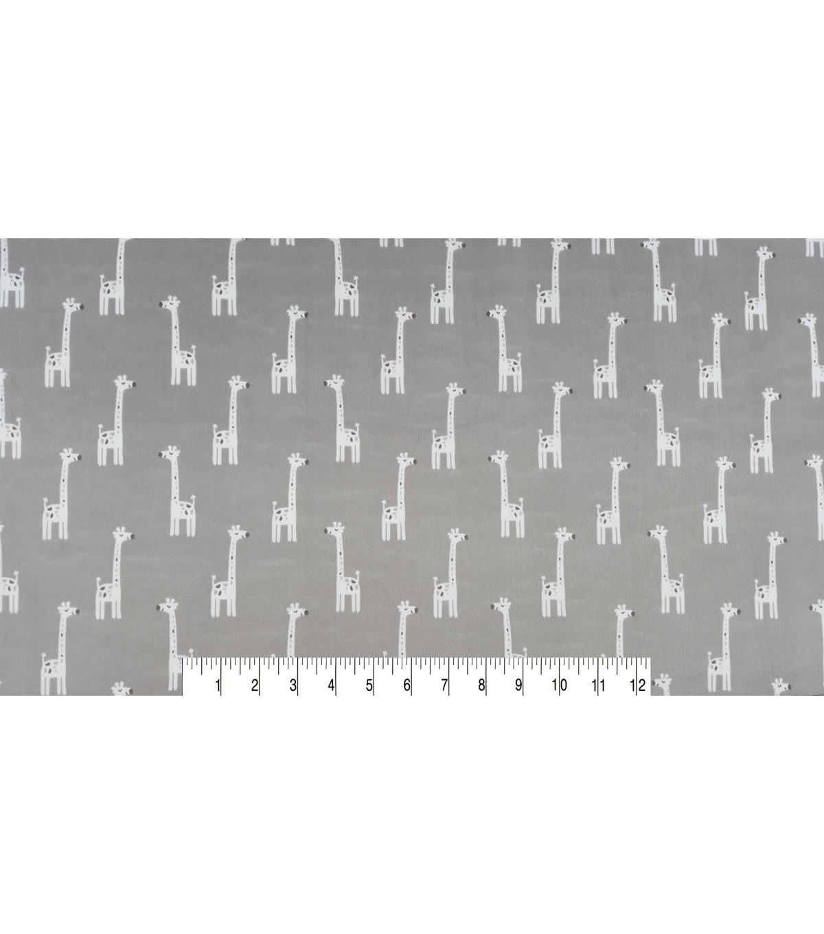 Soft N Comfy Fabric -Gray Giraffes