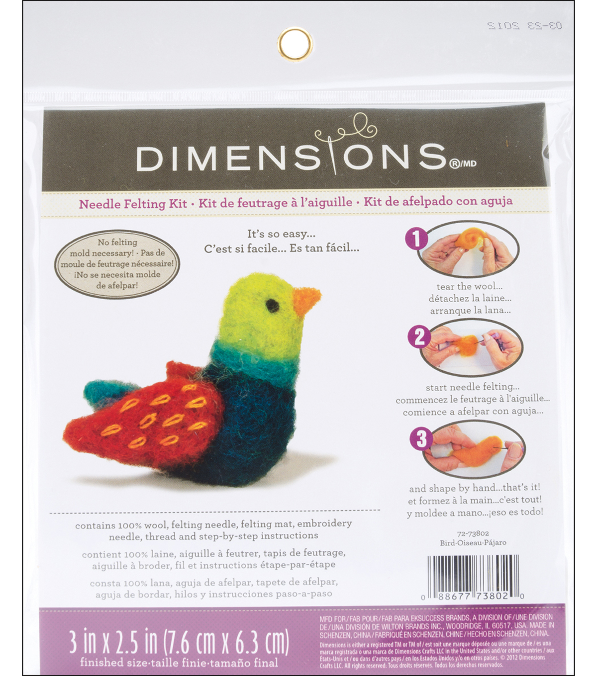 Feltworks Needle Felting Kit-Bird