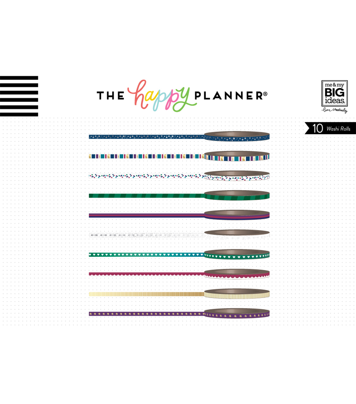 The Happy Planner Mini Washi Tape-Jewel Tones