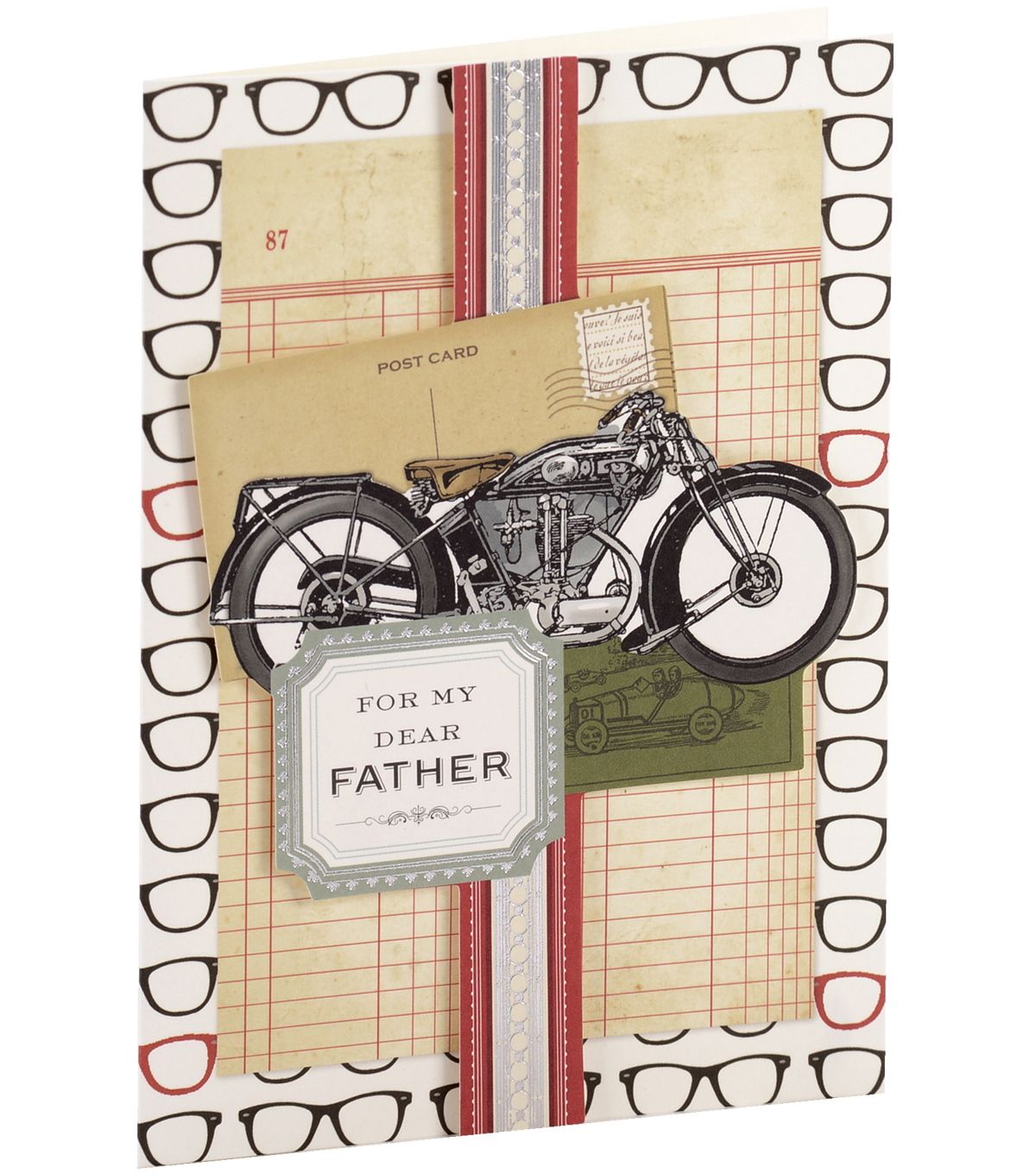 Anna Griffin Card Kit Birthday For My Dad Glasses