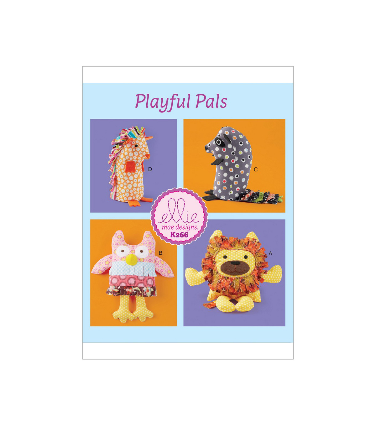 Kwik Sew Pattern K0266 Soft Animals