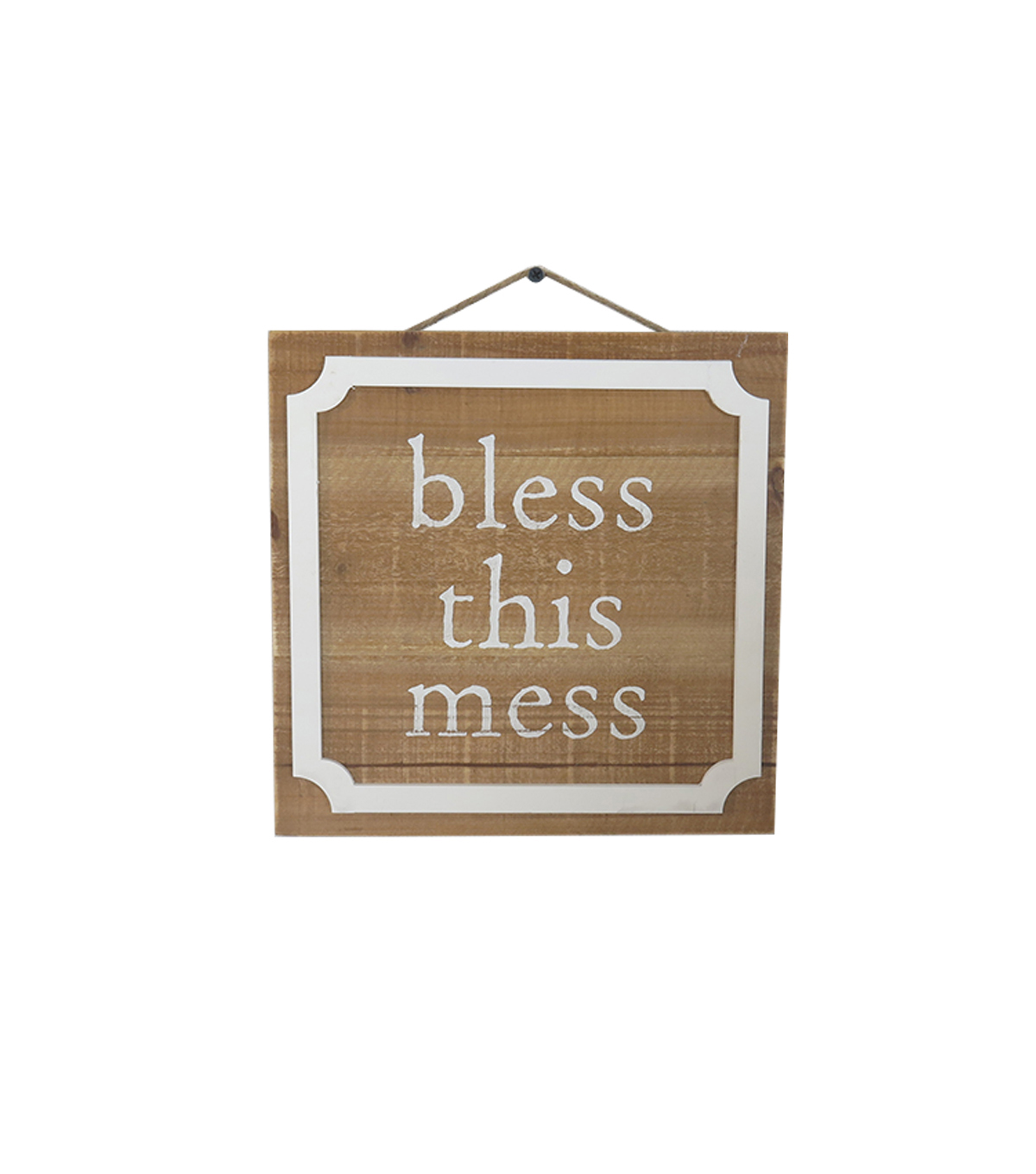 Simply Spring Wooden Wall Decor-Bless This Mess