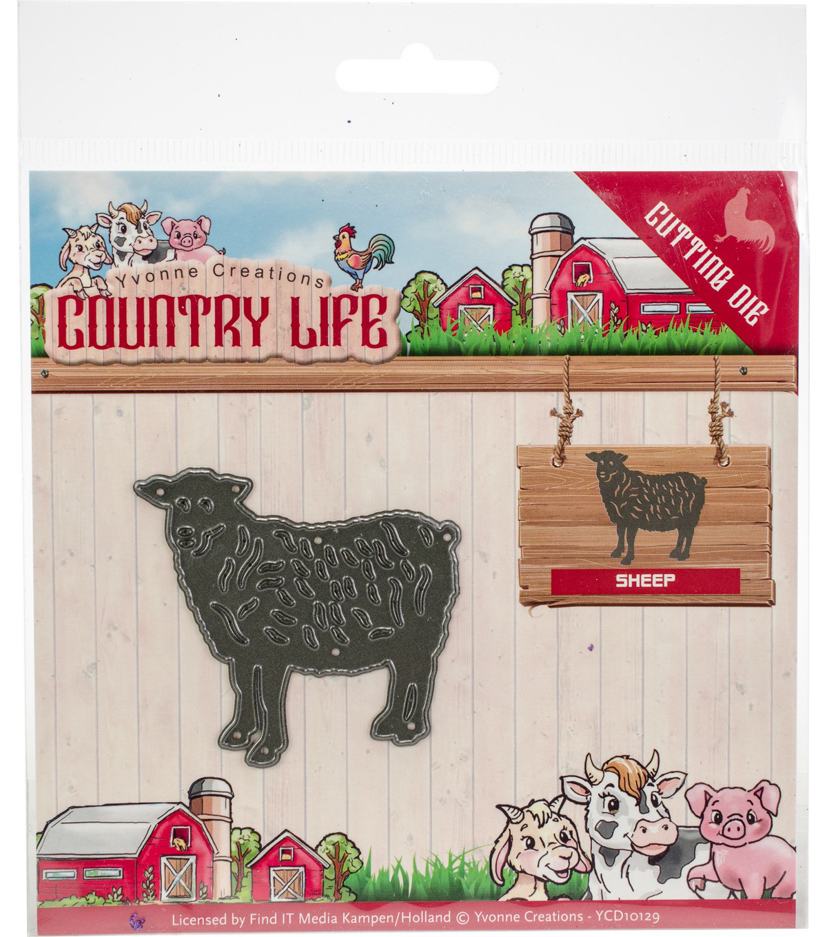 Yvonne Creations Country Life 2.25\u0027\u0027x2.13\u0027\u0027 Cutting Die-Sheep