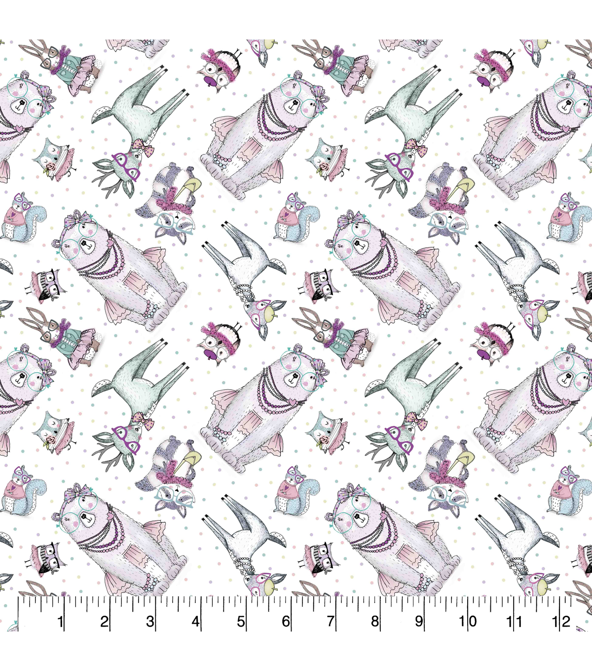 Snuggle Flannel Fabric 43\u0022-Forest Fashion Tossed