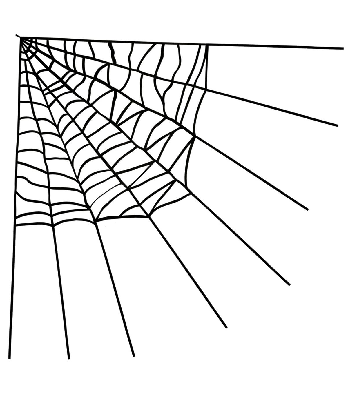 maker's halloween large corner spider web-black   joann