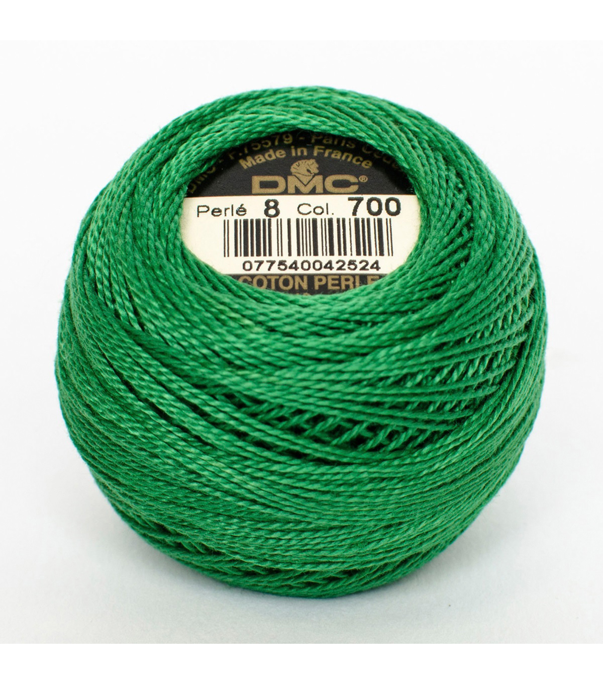 DMC Pearl Cotton Balls Thread 87 Yds Size 8, Bright Green