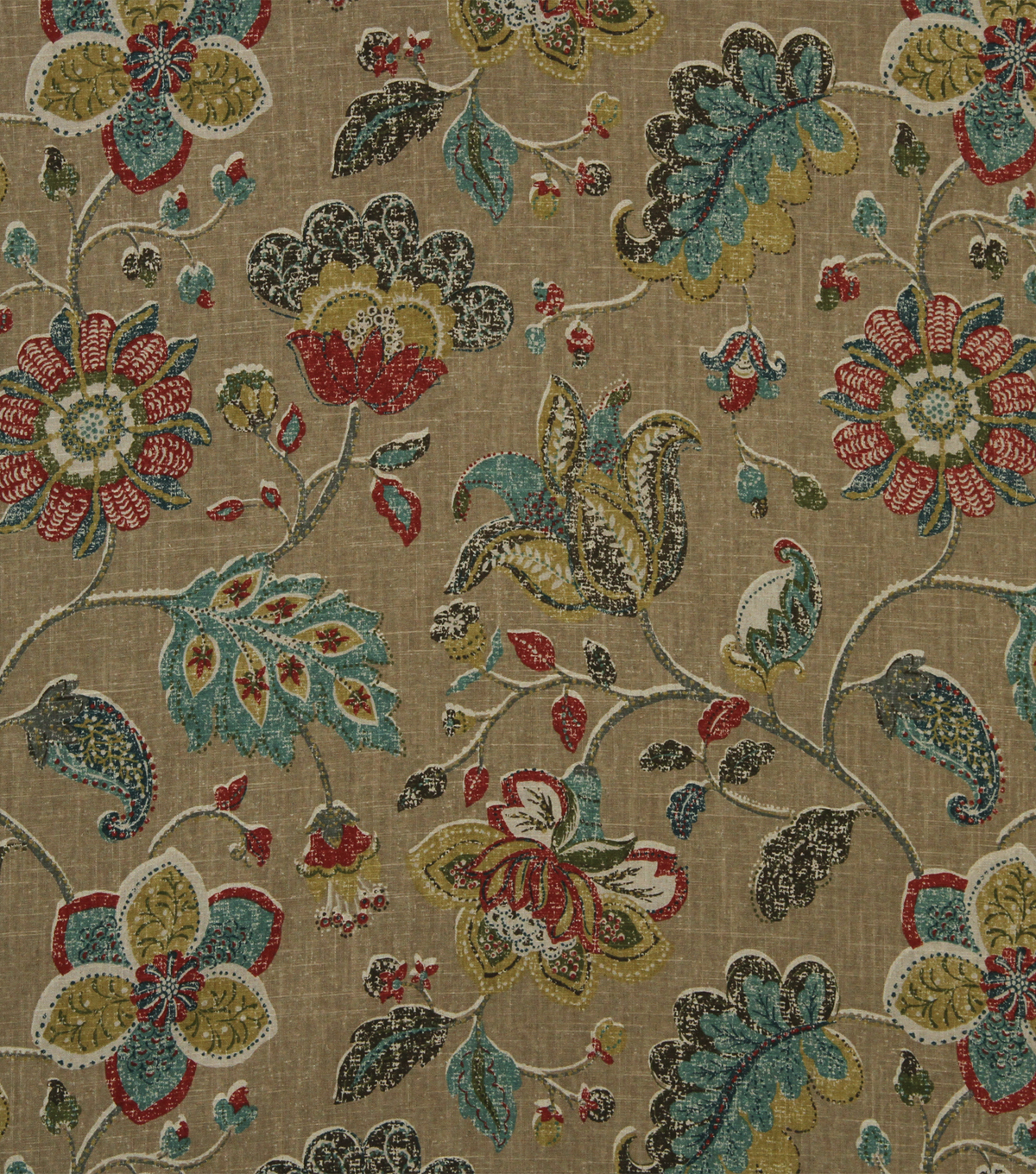 Home Decor 8\u0022x8\u0022 Fabric Swatch-Robert Allen Spring Mix Pomegranate
