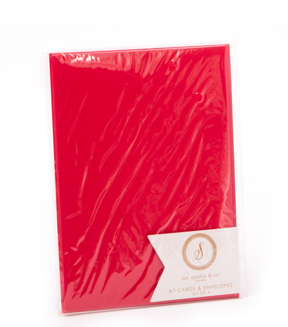 Ms. Sparkle & Co A2 Cards & Envelopes-Red