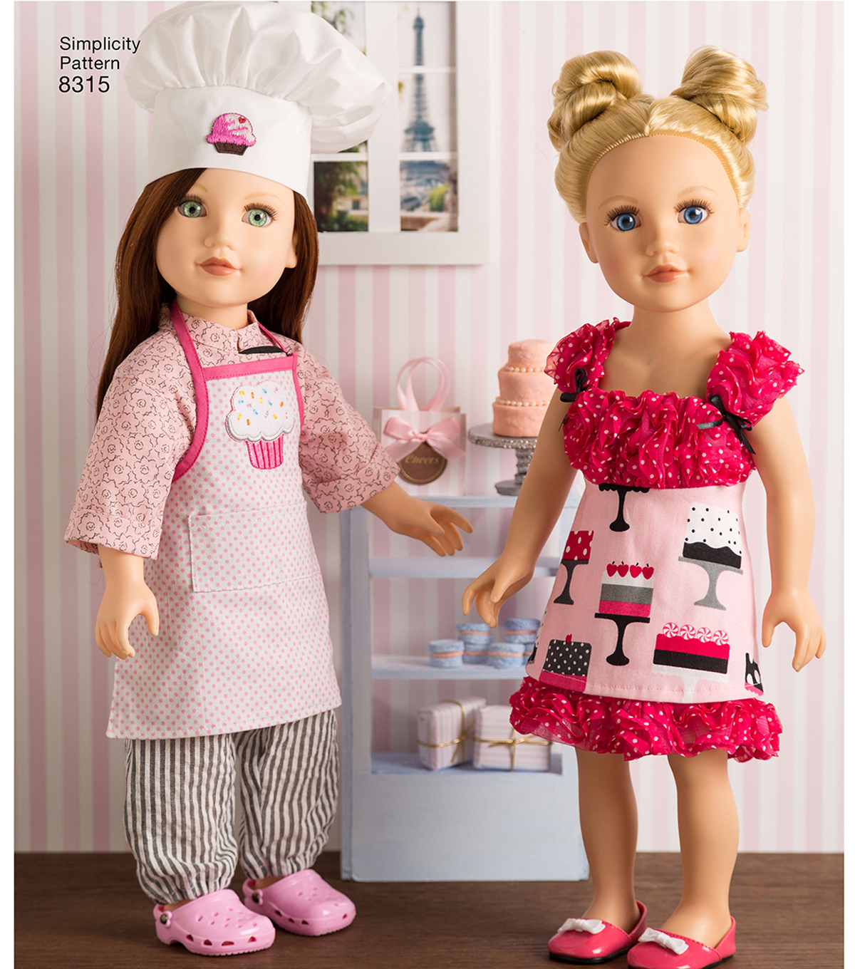 Simplicity Pattern 8315 18\u0027\u0027 Chef Doll Clothes