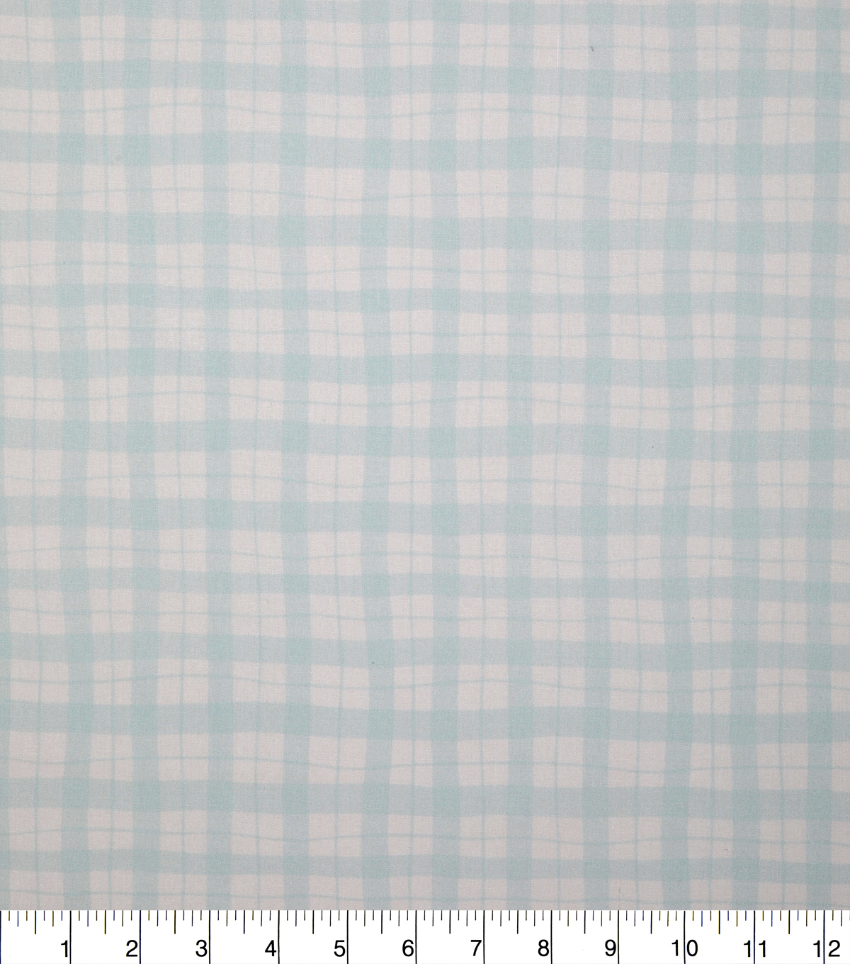 Keepsake Calico Cotton Fabric-Light Teal Wavy Gingham
