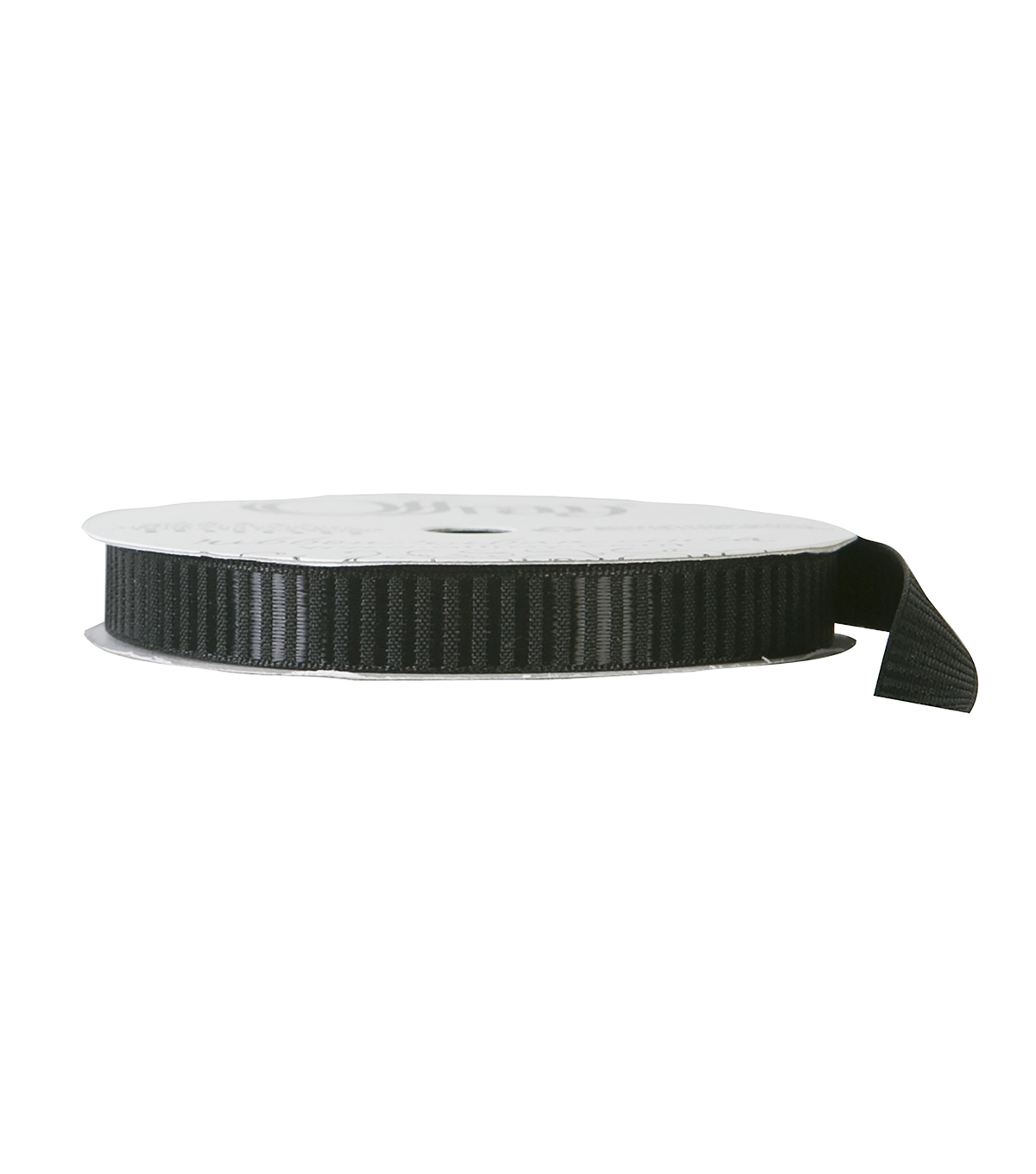 Offray 3/8\u0022x9\u0027 Tracks Solid Grosgrain Ribbon-Black