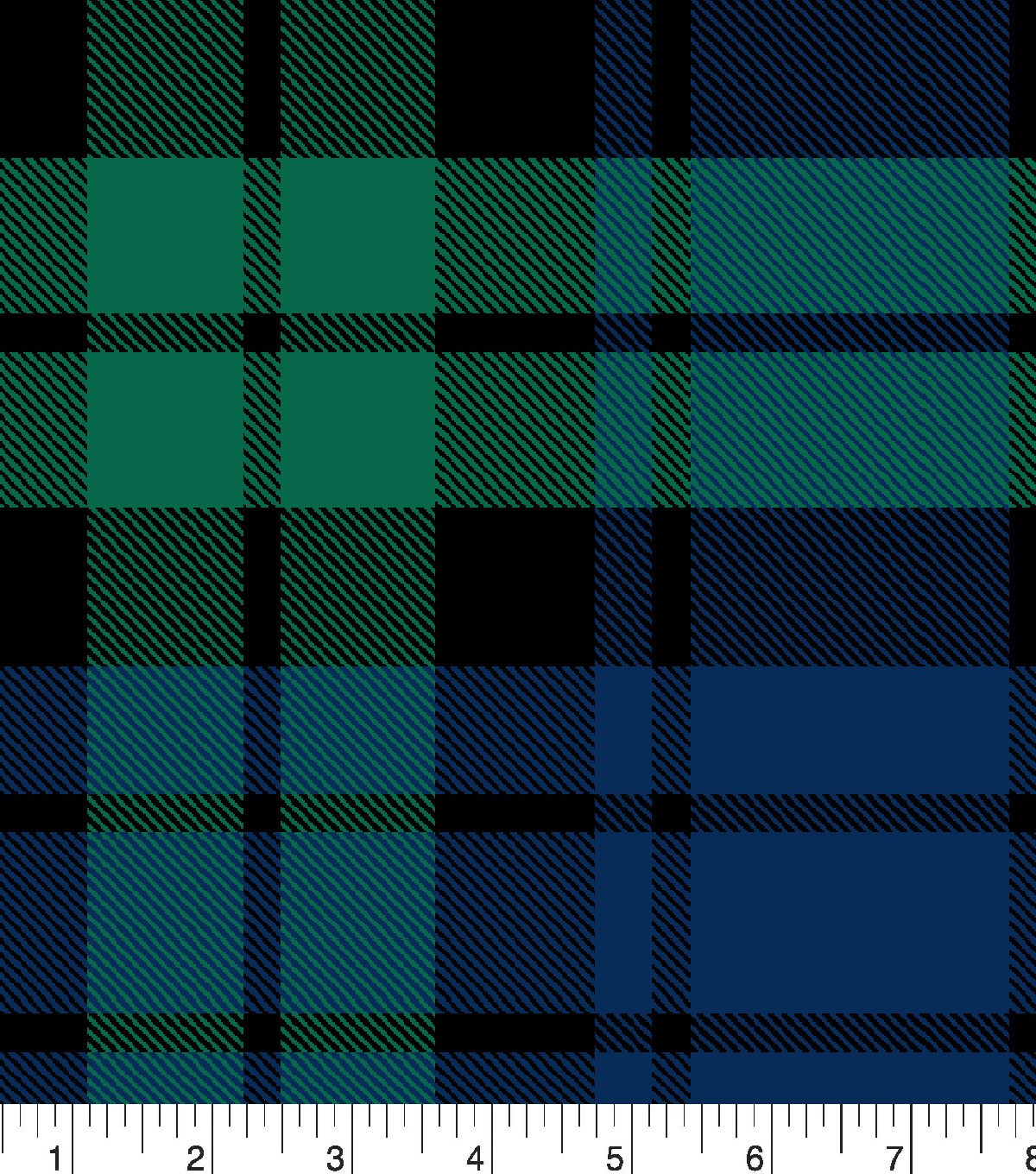 Snuggle Flannel Fabric 42\u0022-Tartan Plaid Navy Green