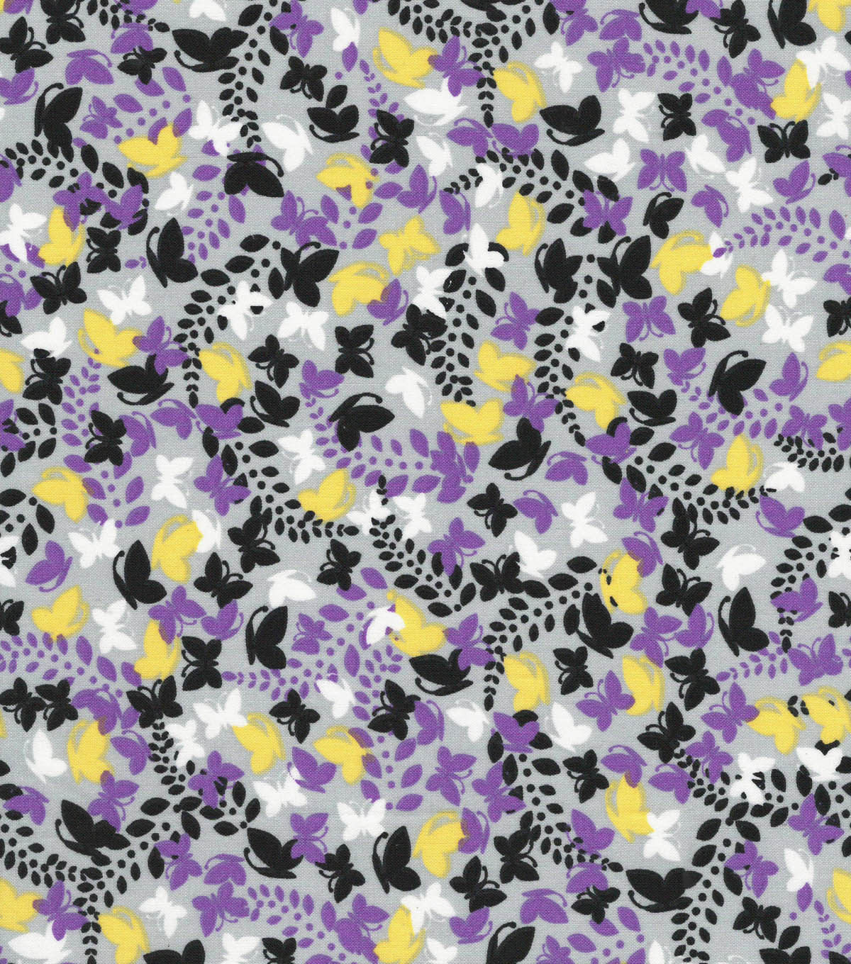 Quilter\u0027s Showcase Cotton Fabric -Mini Butterflies on Gray