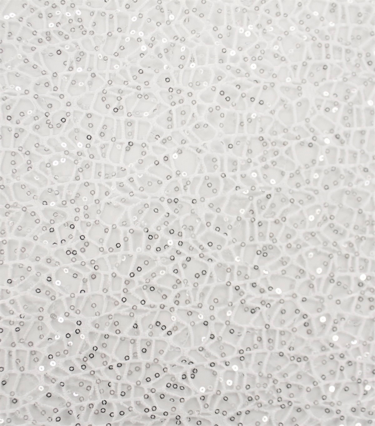 Sequin Apparel Fabric 58\u0027\u0027-White Open Weave