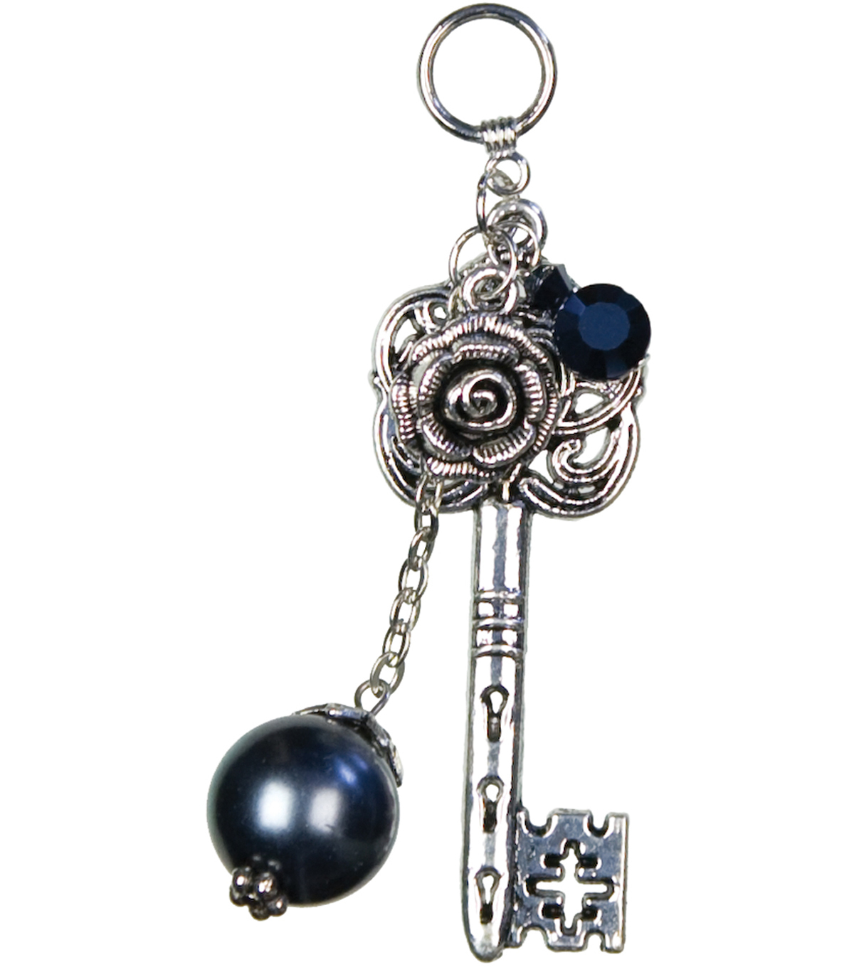 Jewelry Basics Pendant Sets-Key Pearl 1/Pk